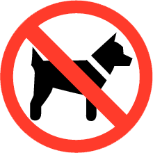 Dogs are not allowed