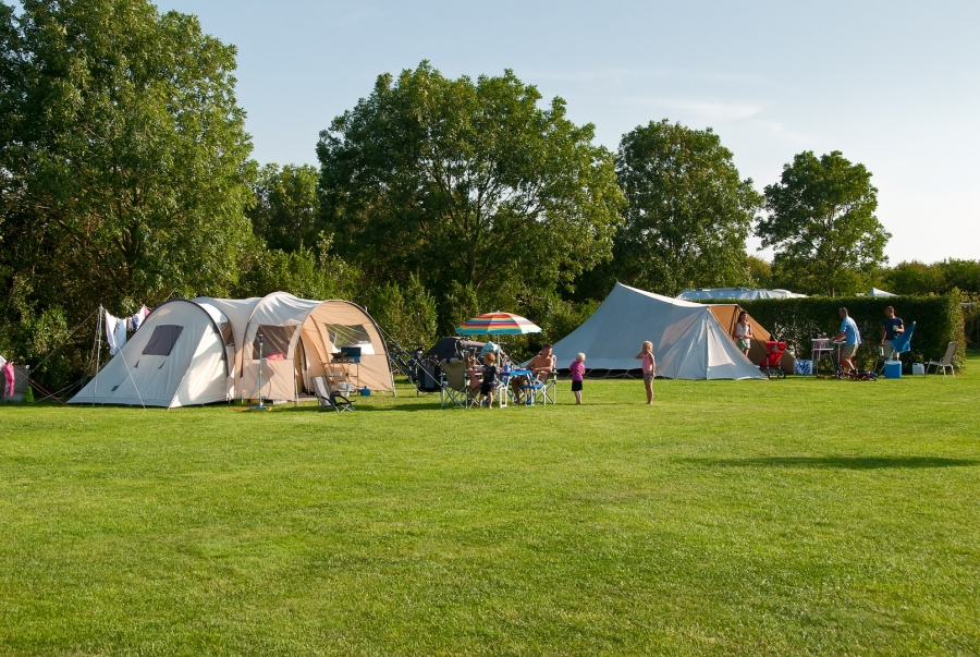 Large pitches campsite Holland